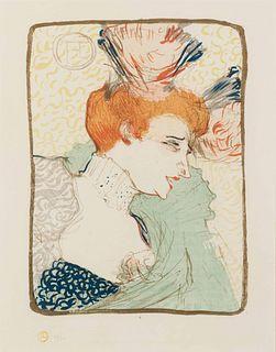 Henri de  Toulouse-Lautrec (French, 1864-1901) Mlle Marcelle Lender, en buste, 1895