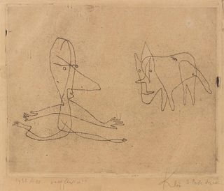 Paul Klee (German, 1879-1940) Was lauft er?, 1932