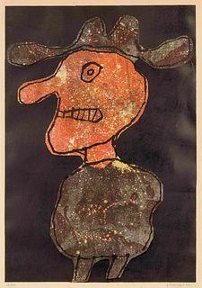 Jean Dubuffet (French, 1901-1985) Personnage au chapeau, 1962