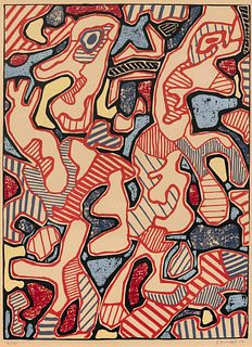 Jean Dubuffet  (French, 1901-1985) Affairements, 1964