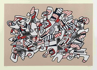 Jean Dubuffet (French, 1901-1985) Course La Galope (from Fables), 1976