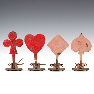 A SET OF MANGELS PLAYING CARD SUIT FIGURAL IRON TARGETS