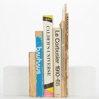 Group of 9 Gallery Artist Books - Le Corbusier