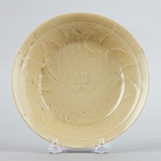 12th c. Chinese or Korean Celadon Bowl with Incised Decoration