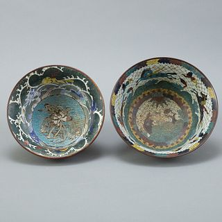 Group: 2 Early Chinese Cloisonne Bowls
