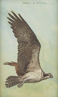 "Noel L. Dunn ""Falcon"" Watercolor"