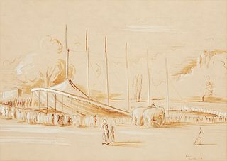 John Huseby Circus Drawing 1939