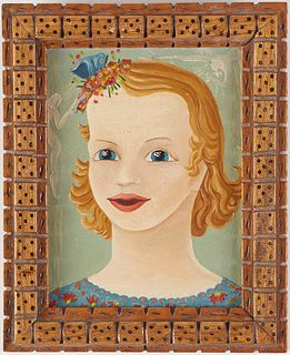 Outsider Art Portrait of a Young Girl