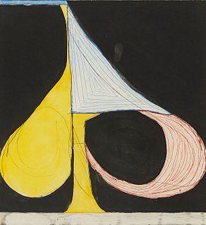 "Richard Diebenkorn ""Tri-Color Spade"" Aquatint & Etching"