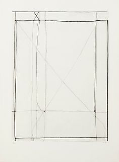 Richard Diebenkorn Abstract Intaglio Print on Paper