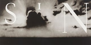 """Ed Ruscha """"Sin-Without"""" Lithograph on Wove Paper"""
