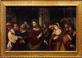 Rocco Marconi (documentato a Venezia dal 1504 al 1529)  - Christ and the Adulteress