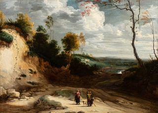 Lodewyk de Vadder (Bruxelles 1605-1655)  - Landscape with wayfarers