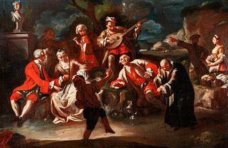 Scuola napoletana, secolo XVIII - Concert en plein air
