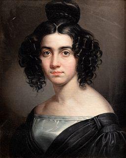 Scuola italiana, secolo XIX - Half-length portrait of a gentlewoman
