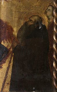 Taddeo di Bartolo (Siena 1362-1422)  - Sant'Antonio Abate and Santa Caterina d'Alessandria (fragment)