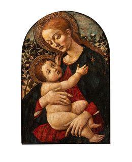 Scuola fiorentina, fine secolo XV - Madonna with Child