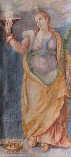 Scuola romana, fine secolo XVI - Saint Lucia; and Holy Bishop