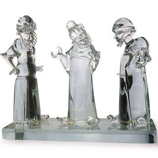 Furlan Walter x T. Menorah Murano Glass Sculpture