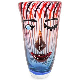 Cristalleria Stile d'arte Figural Murano Glass Vase