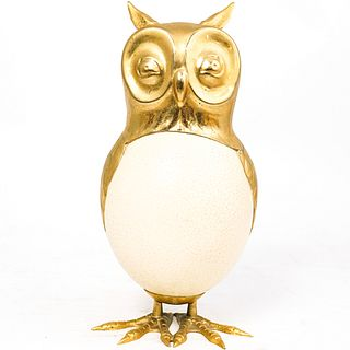 Anthony Redmile Style Mounted Ostrich Egg Owl