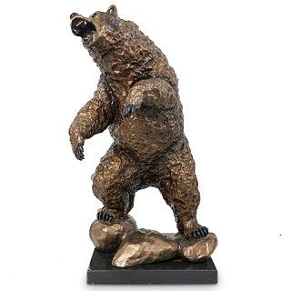 "Eli Hopkins ""Standoff"" Bronze Bear Statue"