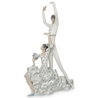 "lladro ""Flamenco Dancers"" Porcelain"