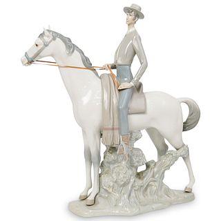 """Large Lladro """"Jinete Andaluz"""" Porcelain Sculpture"""