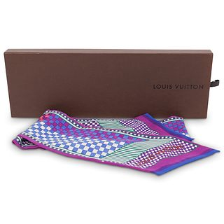 Louis Vuitton Checkered Silk Scarf