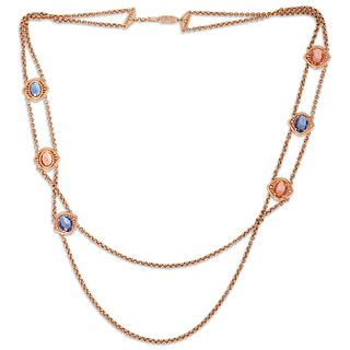 YSL Gold Tone Costume Necklace