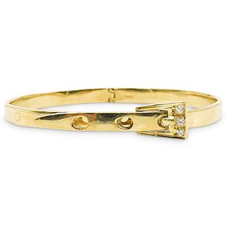 18k Gold and Diamond Buckle Bracelet