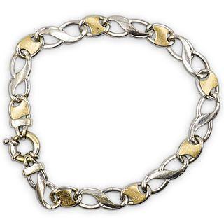 Italian 18k Gold Two Tone Bracelet