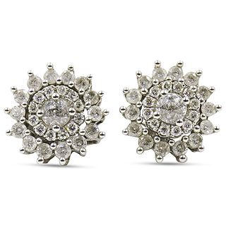 14k Gold and Diamond Convertible Stud Earrings