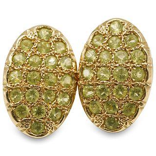 14k Gold and Peridot Earrings