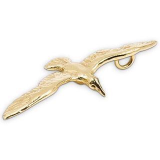 12k Gold Bird Pendant