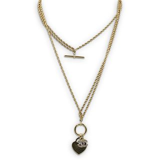 Chanel and 14k Gold Rope Chain Necklace