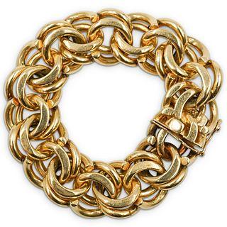 Heavy 14k Gold Chain Link Bracelet