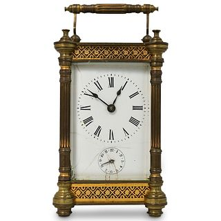 European Brass and Glass Carriage Clock