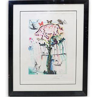 "Salvador Dali ""Pig & Pepper"" Signed & Numbered Lithograph"