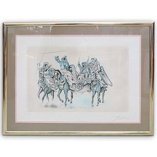 "Salvador Dali (Spain, 1904-1989) ""Bedouins On Horses"" Lithograph"