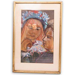 Josef Presser (Polish. 1907-1967) Watercolor Mixed Media Painting