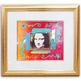 "Peter Max (American b. 1937)"" Mona Lisa Collage"" Mixed Media"