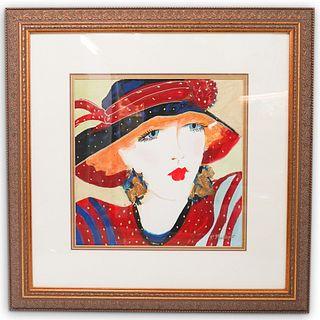 "Rhoda Phillips (American. xx) ""Elegance"" Watercolor Painting"