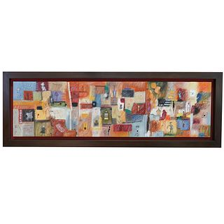 Anita Guevarra Signed Triptych Oil Painting