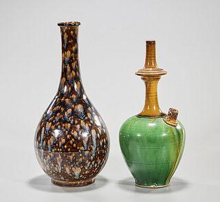 Two Chinese Glazed Porcelains