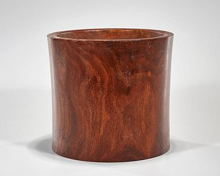 Chinese Hard Wood Brush Pot