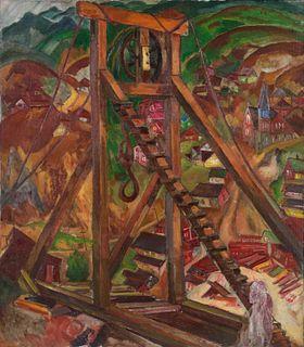 Boris Anisfeld (Russian, 1879-1973) Gold Mine Central City
