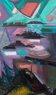 Maurice Freedman    (American, 1904-1985) Deer Island Sunset