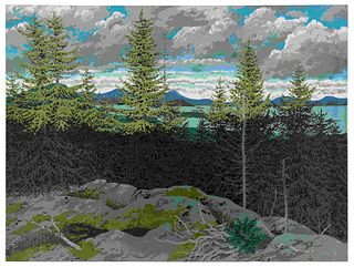 Neil Welliver (American, 1929-2005) From Zeke, 1974