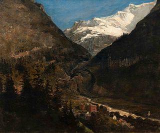 Samuel Colman (American, 1832-1920) Grand Hotel Banff, Alberta